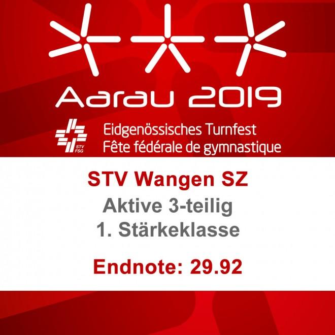1. Rang mit Endnote 29.92 am ETF in Aarau